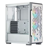 Corsair iCUE 220T Tempered Glass RGB ATX Mid-Tower Computer Case - White