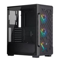 Corsair iCUE 220T Tempered Glass RGB ATX Mid-Tower Computer Case - Black