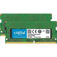 Crucial 16GB 2 x 8GB DDR4-2400 PC4-19200 CL17 SO-DIMM Memory Kit