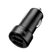 iHome 3.4 A Dual USB Type-A Car Charger - Black