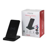 iHome 5 W Dual Coil Wireless Charging Stand - Black