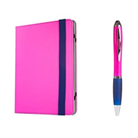 Sakar Portfolio Case w/ Stylus for iPad and Tablet Devices - Pink