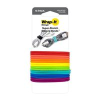 Wrap-It Silicone Bands  16 Pack - Multi