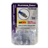 Platinum Tools ezEX38 Cat 6 Modular Connectors Gold Plated for Network Cables 10 Pack
