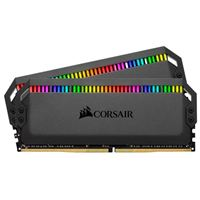 Corsair Dominator Platinum RGB 16GB 2 x 8GB DDR4-3600 PC4-28800 C18 Dual Channel Desktop Memory Kit CMT16GX4M2C3600 - Black