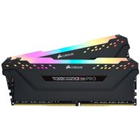 Corsair Vengeance RGB Pro 16GB 2 x 8GB DDR4-3600 PC4-28800 C18 Dual Channel Desktop Memory Kit CMW16GX4M2Z3600 - Black