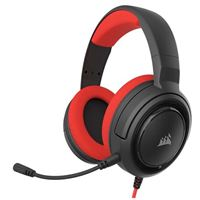 Corsair HS35 - Stereo Gaming Headset - Memory Foam Earcups - Headphones Designed for Switch and Mobile – Red, Switch Red