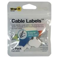 Wrap-It Cable Labels 12 pack Oval - Multi color