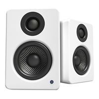 Kanto Living YU2 Powered Desktop Speakers w/ Built-in USB DAC - Matte White