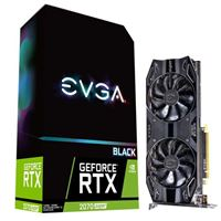 EVGA GeForce RTX 2070 SUPER BLACK GAMING Overclocked Dual-Fan 8GB GDDR6 PCIe 3.0 Video Card