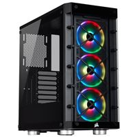 Corsair iCUE 465X RGB Tempered Glass ATX Mid-Tower Computer Case - Black