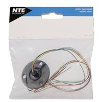 NTE Electronics 6 Wire Slip Ring with Flange