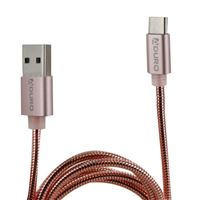 Aduro USB 2.0 (Type-C) Male to USB 2.0 (Type-A) Charge/ Sync Cable 3 ft. - Rose Gold