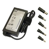 BTI Slim Universal 65W AC Adapter for HP w/ 5 Interchangeable Tips