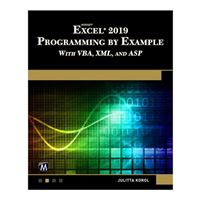 Stylus Publishing Microsoft Excel 2019 Programming by Example: With VBA, XML, AND ASP