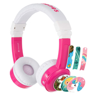 Onanoff BuddyPhones In-Flight Headphones - Pink