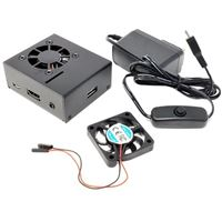 Micro Connectors Aluminum Case Kit with Power and Fan - Black