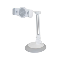 "Inland Grip Clip Full Rotation Suction 4-10"" Phone/ Tablet Mount - White"