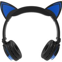 DGL Group Wireless LED Cat Ear Headphones - Blue
