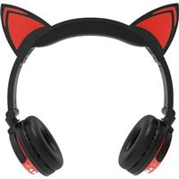 DGL Group Wireless LED Cat Ears Headphones - Red