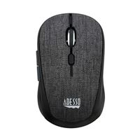 Adesso iMouse S80 Wireless Fabric Mini Optical Mouse - Black