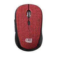 Adesso iMouse S80 Wireless Fabric Mini Optical Mouse - Red