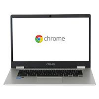 "ASUS Chromebook C523NA-DH02 15.6"" Laptop Computer Refurbished - Silver"