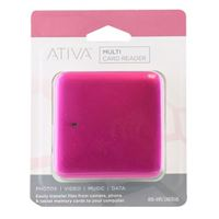 Ativa Multi-Card Reader - Pink