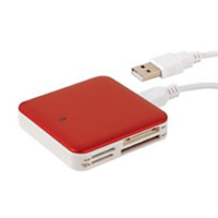 Ativa Multi-Card Reader - Red