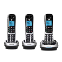 Motorola CD4013 Cordless Telephone - 3 Pack