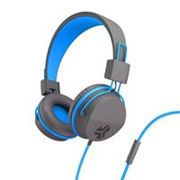 JLab JBuds Studio Over Ear Kids Headphones - Blue/Gray