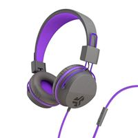 JLab JBuds Studio Over Ear Kids Headphones - Purple/Gray