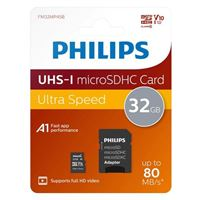 Philips 32GB microSDHC Class 10 U1 Flash Memory Card with Adapter