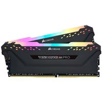 Corsair Vengeance RGB Pro 16GB (2 x 8GB) DDR4-3600 PC4-28800 CL18 Dual Channel Desktop Memory Kit CMW16GX4M2D3600C18 - Black