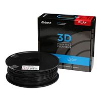 Inland 2.85mm Black PLA+ 3D Printer Filament - 1kg Spool (2.2 lbs)