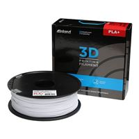 Inland 1.75mm White PLA+ 3D Printer Filament - 1kg Spool (2.2 lbs)