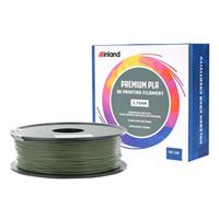 Inland 1.75mm Olive Green PLA+ 3D Printer Filament - 1kg Spool (2.2 lbs)