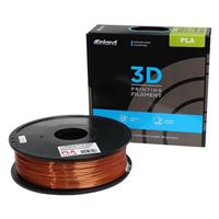 Inland eSilk 1.75mm Copper PLA 3D Printer Filament - 1kg Spool (2.2 lbs)