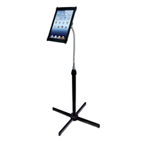 CTA Digital Adjustable Gooseneck Floor Stand for iPad