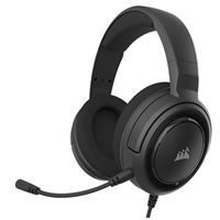 Corsair HS45-7.1 Virtual Surround Sound PC Gaming Headset w/USB DAC - Memory Foam Earcups - Carbon