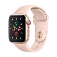 Apple Watch Series 5 GPS 40mm Gold Aluminum Smartwatch - Pink Sand Sport Band