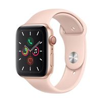 Apple Watch Series 5 GPS/Cellular 44mm Gold Aluminum Smartwatch - Pink Sand Sport Band