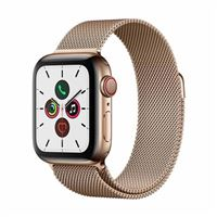 Apple Watch Series 5 GPS/Cellular 40mm Gold Stainless Steel Smartwatch - Gold Milanese Loop Band