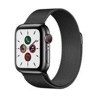Apple Watch Series 5 GPS/Cellular 40mm Space Black Stainless Steel Smartwatch - Space Black Milanese Loop Band