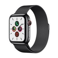 Apple Watch Series 5 GPS/Cellular 44mm Space Black Stainless Steel Smartwatch - Space Black Milanese Loop Band