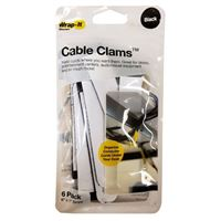 "Wrap-It Cable Clams 5"" Strips 6 Pack - Black"