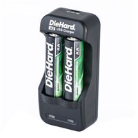 Dorcy DieHard NiMH Overnight Charger w 2 x AA Rechargeable Batteries