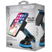 Aduro Grip Clip Suction Dashboard Extendable Phone Mount - Black