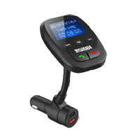 Curtis Bluetooth Hands Free FM Transmitter w/Siri & Google Assist