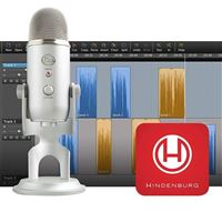 Blue Microphones Yeti Silver + Hindenburg Journalist Software Podcaster Bundle